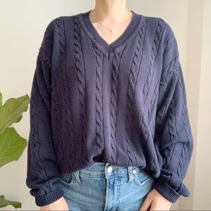 Vtg UNITED COLORS of BENETTON Italy Blue Sweater